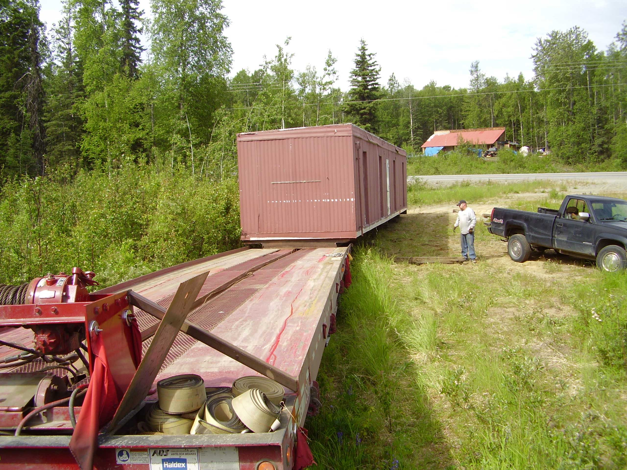 We can help move and transport your modified container conversions throughout Alaska.