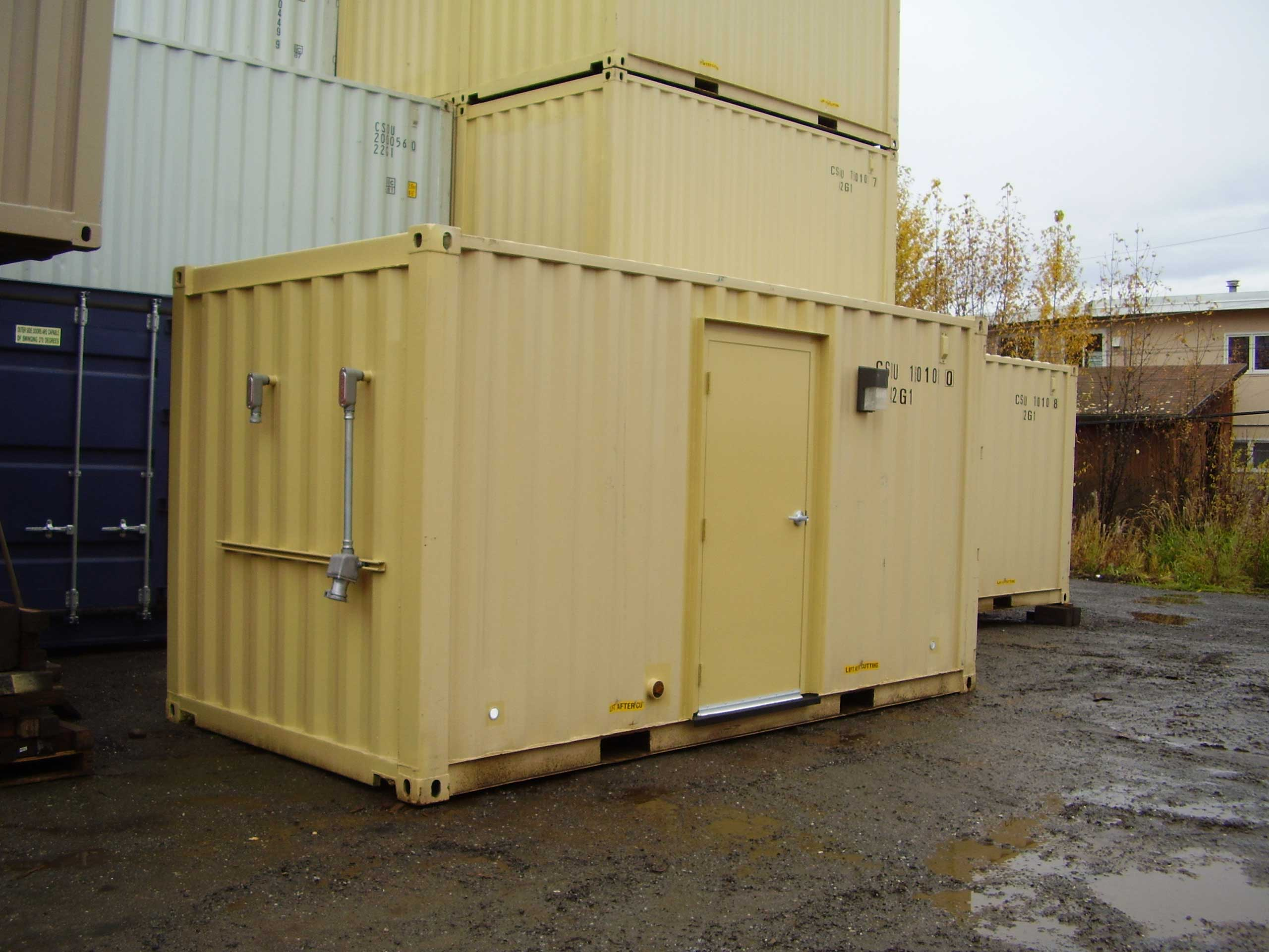 Off/onsite battery power container conversion project.  Provide battery power at remote locations using a container converted to a backup power source, such as this battery power container created for Pogo Mine.
